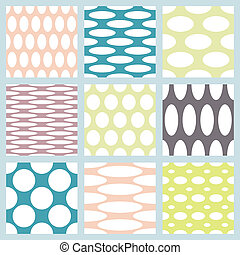 Set of elegant polka dot patterns.