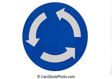 Road signs 20 - Road sign. Warning, roundabout on the way