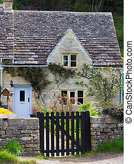 Old Cottage, Bibury,, Gloucestershire, Cotswolds, UK - A...