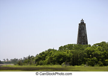 Lighthouse on Bald Head Island. - Lighthouse on Bald Head...