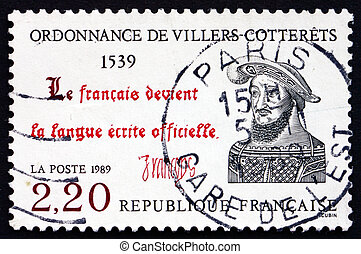 Postage stamp France 1989 The Ordinance of Villers-Cotterets...