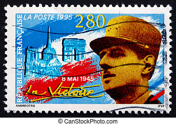 Postage stamp France 1995 French Soldier