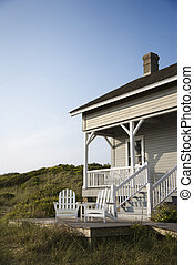 Coastal house. - Coastal house with porch and deck on Bald...