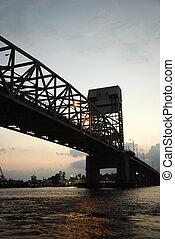 Bridge over Cape Fear River. - Bridge over Cape Fear River...