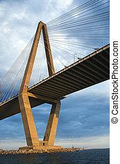 tonelero, río, Puente, Charleston