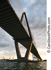 Cooper River Bridge in Charleston. - Cooper River Bridge in...