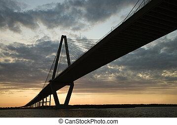 tonelero, río, Puente, Charleston, sur, Carolina