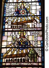 Saint Michael San Fernando Stained Glass Mission Dolores Saint Francis De Assis San Francisco California