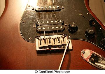 Broken String - Broken string on a guitar