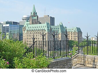 Ottawa Skyline - view of the Government Buildings on...