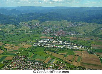 Steinbach Baden-Baden aerial - aerial view of the town of...