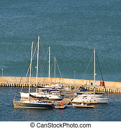 Yacht Club in Balchik on the Black sea coast, Bulgaria.