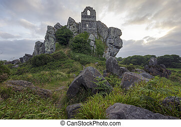 Roche Rock - An ancient ruined chapel perched on top of a...