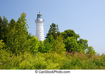 Cana Island Lighthouse - The tall structure of the Cana...