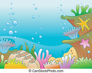 Underwater  - Illustration of Underwater Scene