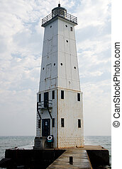 Frankfort North Breakwater Lighthouse, Michigan - Getting...