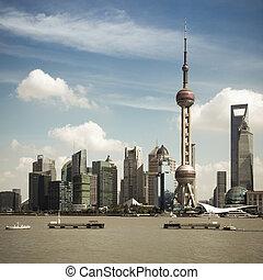 shanghai skyline at daytime