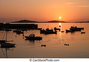 Sunset, Isles of Scilly, Cornwall