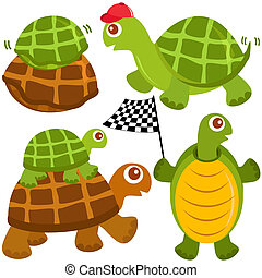 Vector of Turtle, the winner - A colorful and cute vector...
