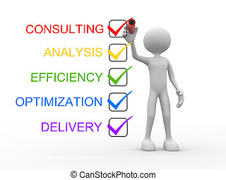 Consulting, analysis, efficiency, optimization, delivery -...