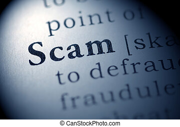 Scam - Fake Dictionary, Dictionary definition of the word...