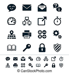 Application icons - Simple vector icons Clear and sharp Easy...