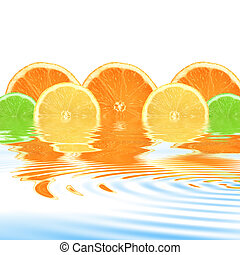 Orange, Lemon and Lime Abstract - Lemon, lime and orange...
