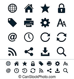 Web icons - Simple vector icons Clear and sharp Easy to...