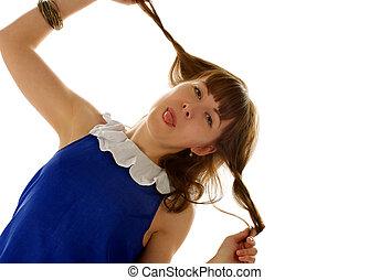 Funny Girl - Funny Ginger Hair Girl like Pippi Longstocking...