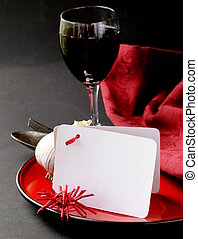 table setting for Halloween - stylistic table setting for a...