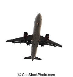 airplane isolated on white background with clipping path