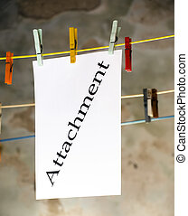 Attachment - Metaphor about sending files via email.