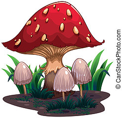 An image of a huge mushroom - Illustration of an image of a...