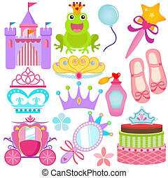 Sweet Princess Set - A colorful set of Vector Icons : Sweet...