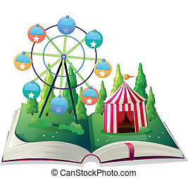 A storybook with a carnival