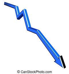 Blue 3D arrow