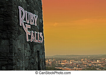 Ruby Falls located in Chattanooga, Tennessee