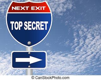 Top secret road sign