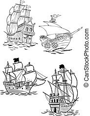 different types of sailboats - The illustration shows...