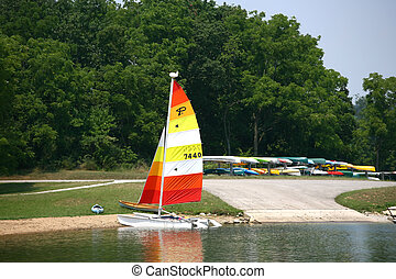 One last sail - Set in a beautiful state park a colorful...