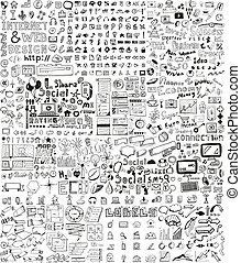 Huge set of hand drawn elements - Huge set of business,...