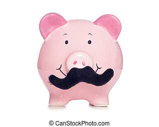Movember piggy bank studio cutout