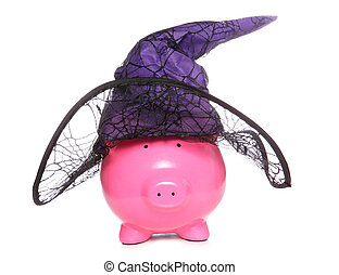 Halloween witch piggy bank studio cutout