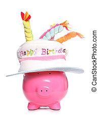 happy birthday piggy bank studio cutout