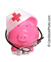 Medical piggy bank studio cutout