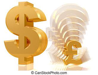 Shrinking pound symbol