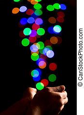 Catching light bubbles - Catching beautiful light bokeh...
