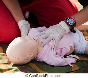 first aid training - Infant dummy first aid
