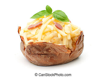 Baked potato - Jacket oven baked potato with melting cheese...