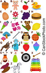 Vector Alphabet A to Z - Dictionary - Back to school: Vector...